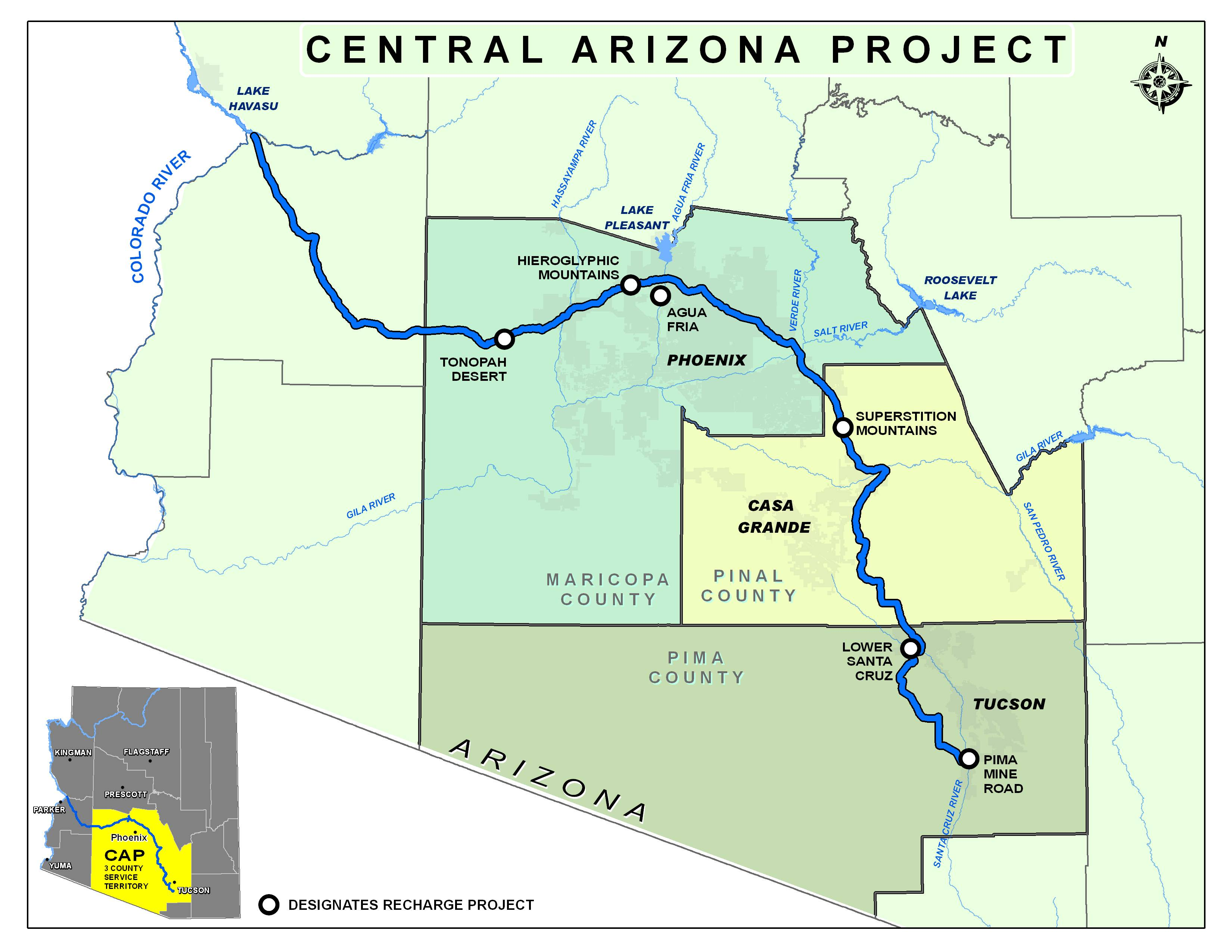 Map Of Central Arizona.The Central Arizona Project Brandon Donnelly